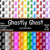 Halloween - Ghastly Ghost - 22 Digital Papers