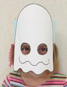 "Halloween Ghost ""Boo"" Sentence Strip Hat Mask"