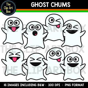 Halloween Ghost Chums - Clip Art