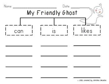 Halloween Ghost Craftivity For Kids!