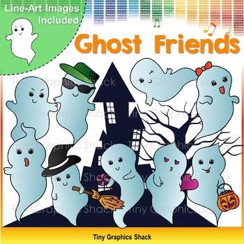 Halloween Ghost Friends Clip Art