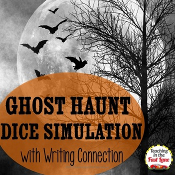 Halloween Ghost Haunt Dice Simulation with Writing Connection