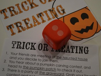 Halloween Writing Activity Ghost Haunt Dice Simulation