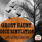 Halloween Writing Activity Ghost Haunt Dice Simulation