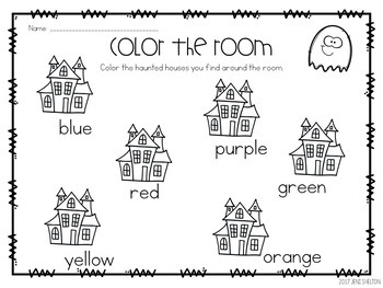 Halloween Ghost Matching Activities for Toddlers, Preschool, and Pre-K