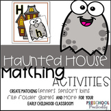 Ghost Preschool Matching Activities:  Alphabet, Colors, Shapes and more