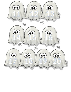 Halloween Ghost Number Tracing