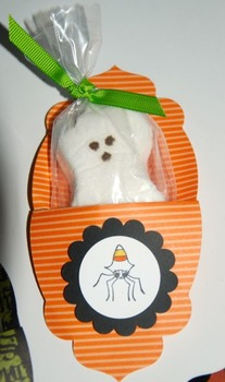 Halloween Ghost Peeps in a Pouch! (Class set of 24)