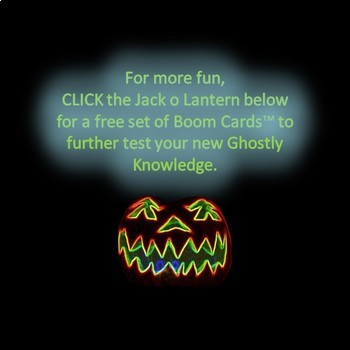 FREE Halloween  Literary Elements of a Ghost Story PowerPoint Show