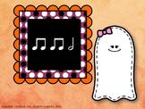 Halloween Ghost Rhythm - Half Note