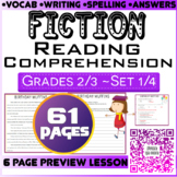 Fiction Passages and Questions | Set 1/4 | 61 Pages | Grade 2-3