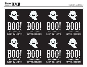 Halloween Ghost Tags