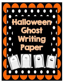 Halloween Ghost Writing Paper