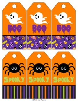 Halloween Ghost and Spider Gift Tags