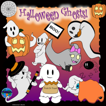 Halloween Ghosts CLIP ART