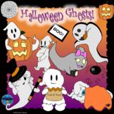 Halloween Ghosts CLIP ART