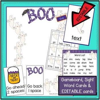 Halloween Poem - 1-2, Ghosts Go BOO! Shared Reading Book & MORE!