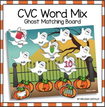 Halloween Ghosts: CVC Word Mix