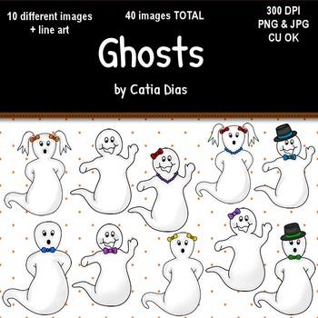 Halloween - Ghosts Clip Art
