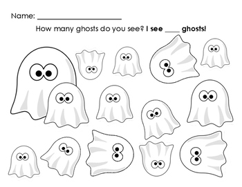 Halloween/Ghosts Counting Page