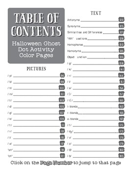 Halloween Ghosts Dot Activity for Speech and Language