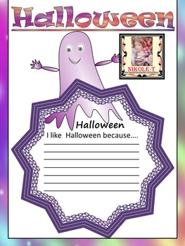 Halloween Activities - Ghosts - Writing Activity and Bulletin Board Decorations
