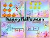 Halloween Activities - Addition and Subtraction to 10 - PowerPoint presentation