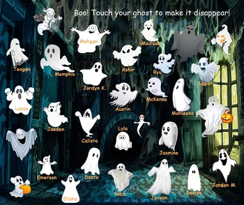 Halloween Ghosts and Thanksgiving Turkey Attendance for SMART Notebook