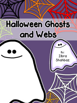 Halloween Ghosts and Webs Clipart {FREE}