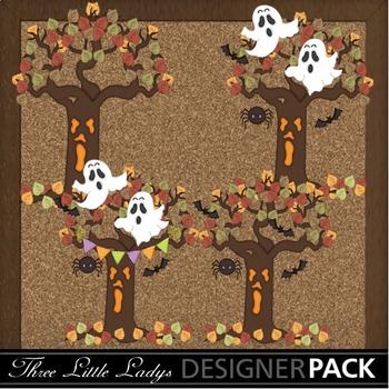 Halloween Ghosts n Trees
