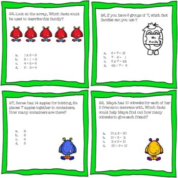 Halloween Ghoulish Multiplication Division Fact Family Math Center Stations