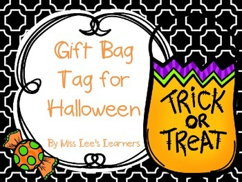Halloween Gift Bag Tag: Bugs and Kisses