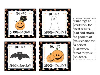 graphic about Halloween Gift Tags Printable known as Halloween Present Tags