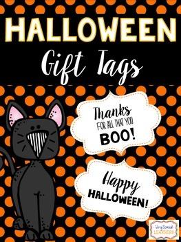 Halloween Gift Tags- FREEBIE!