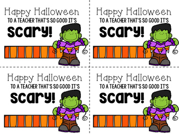 Halloween Gift Tags FREEBIE