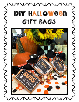 picture regarding Bugs and Kisses Printable identify Halloween Present Tags (insects kisses)