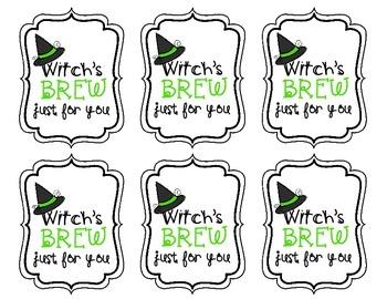 Halloween Gift Tags or Labels. 5 Different Tags for a Halloween Student Gift
