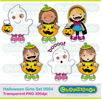 Halloween Girls Clipart 004