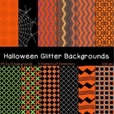 Halloween Glitter Backgrounds for Commercial Use (Fall Digital Papers)