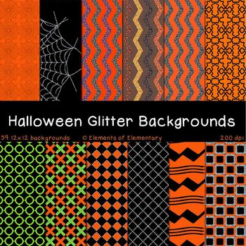 Halloween Glitter Backgrounds for Commercial Use (Fall Dig