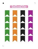 Halloween Glitter Flags