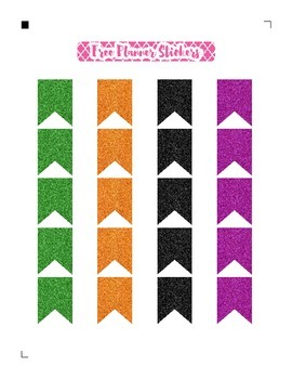 Halloween Glitter Flags