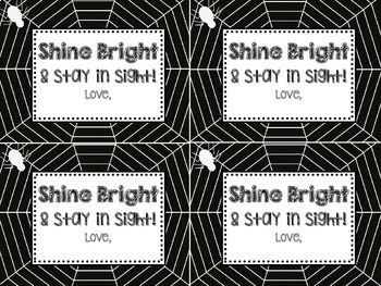 Halloween Glow Stick Gift Tags Shine Bright and Stay in Sight