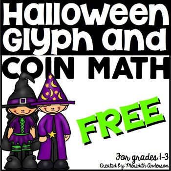 Halloween Math and Glyph FREE