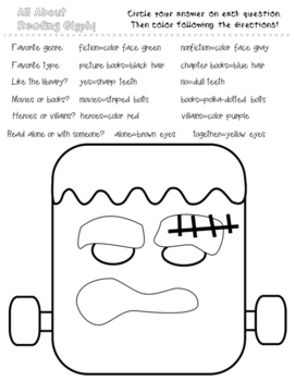 Halloween Glyphs Bundle-Follow the Directions Activity Sheets