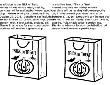 Halloween Goodie Bag Flyer