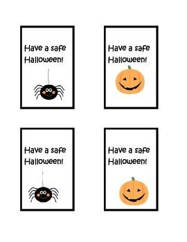 Halloween Goody Bag Lables