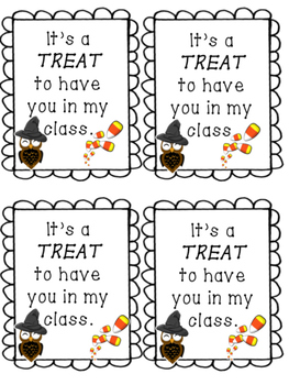 Halloween Goody Bag Notes