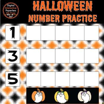 Halloween Google Slides - Numbers 0 to 10