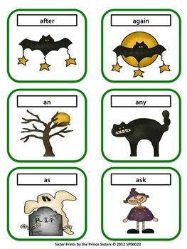 Halloween Grade 1 Word Cards